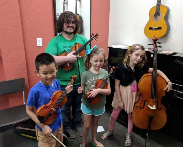 My Summer strings class! What a great group of young musicians!