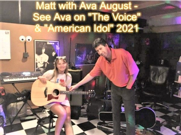 Ava August and Matthew Talking Guitars and Vocals