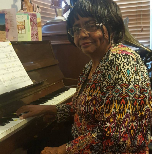 Betty loves to play hymns!