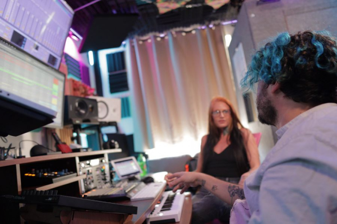 Working On Music Production with Heather