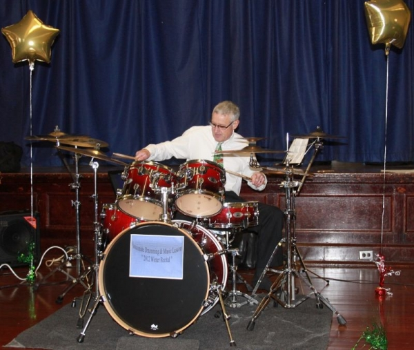 60 years young & still grooving on the kit!