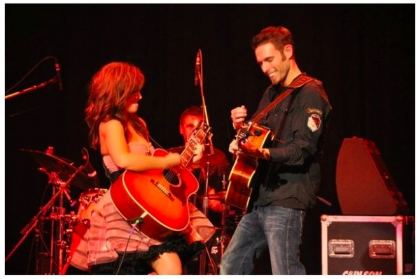 Performing with Nashville country star, Hannah Michelle Weeks.