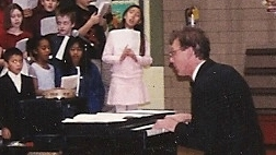 Variety Show performance while teaching in Illinois