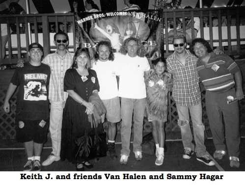 Keith J. - and friends Van Halen and Sammy Hagar