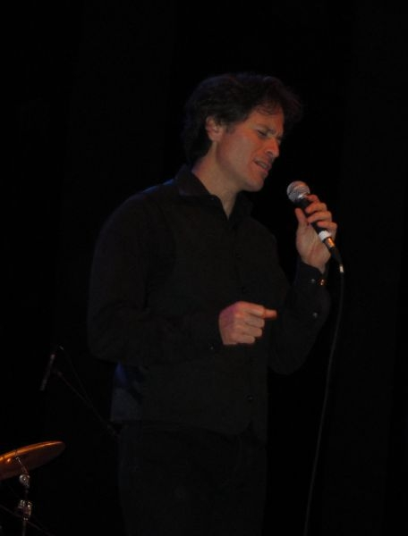 Singing with the Lionel Young Blues band on our 2011 France tour (this concert was at a small town near Paris)