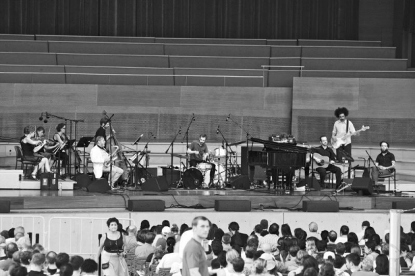 playing at Millennium Park.