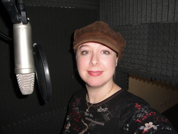 Katherine in the Recording Studio
