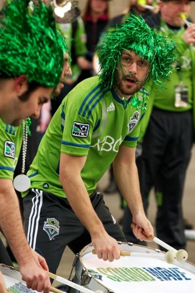 St. Patrick's Day 2012 - Sounders FC Soundwave. Seattle, WA.