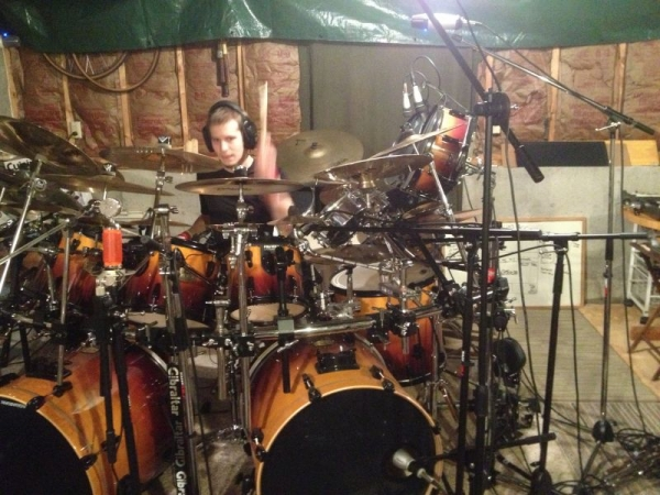 This is from a recording session with my main kit.