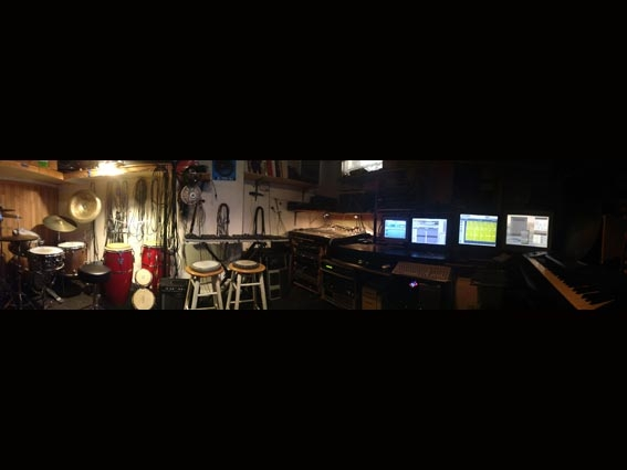 a panoramic view of the studio