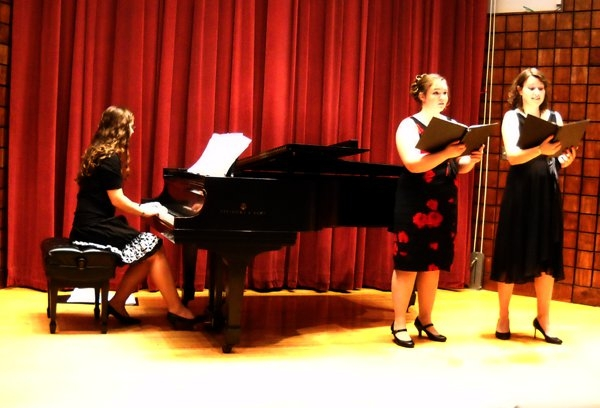 Accompanying vocalist's recital at Crane School of Music