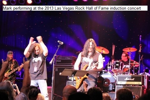 Mark G. performing at the 2013 Las Vegas Rock Hall of Fame induction concert