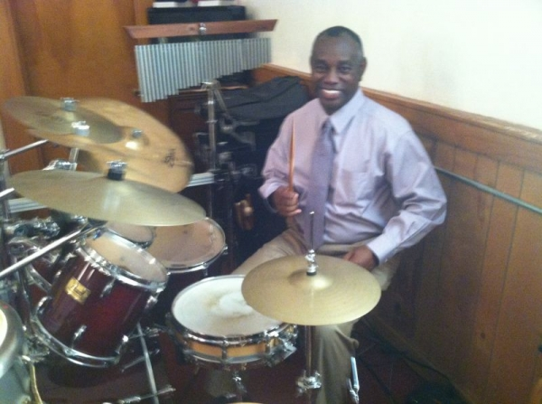 Playing at New Salem Church