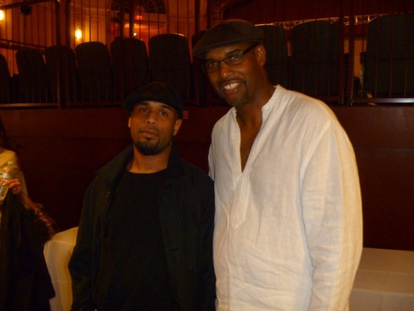 Me with Gerald Veasley (my favorite philly bass player) after a benefit concert!!