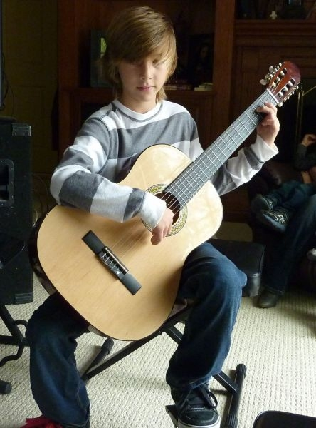 Learning classical guitar.