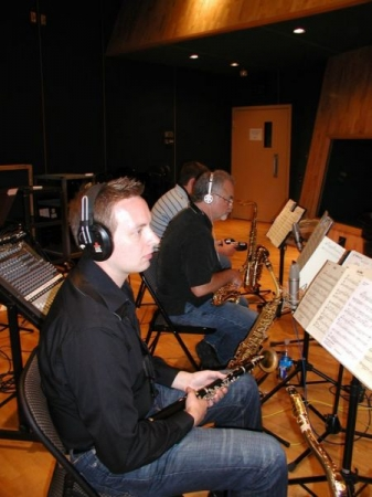 Recording flute, clarinet, and tenor saxophone at The Tracking Room in Nashville, TN