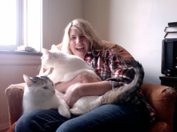 My little furry friends and I , if your allergic to kitties... just letting you know they are around and love music.