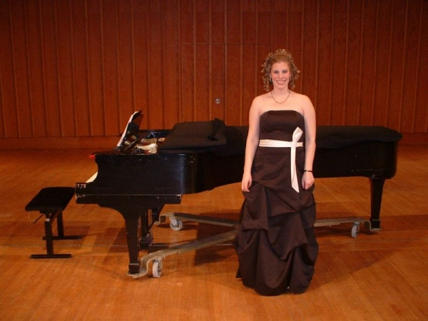 Me after my first Performer's Certificate recital (2009).
