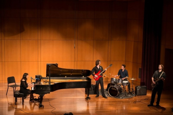 Performing at Tiedtke Hall