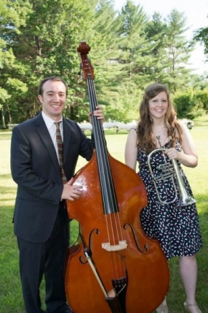 Playing bass for a friend's wedding ceremony.