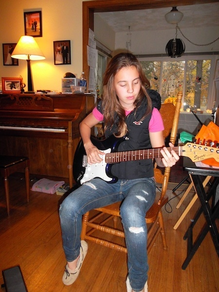 Taking guitar since she was five.