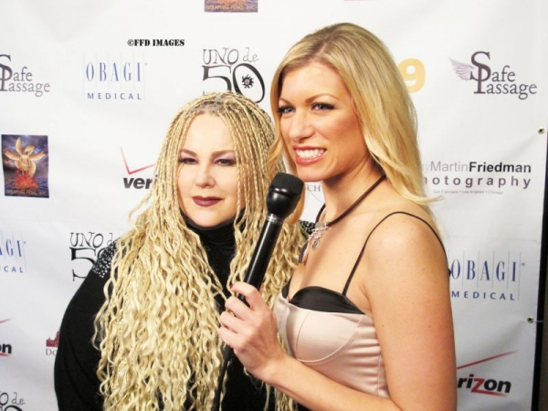On the red carpet for a children's charity event in Hollywood