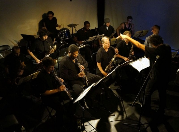 The Sensorium Saxophone Orchestra, Brooklyn NY. I am composer and conductor. 2012