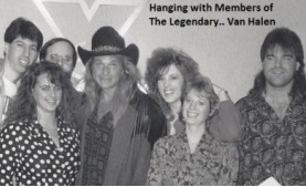 Hanging with Members of the legendary Van Halen!