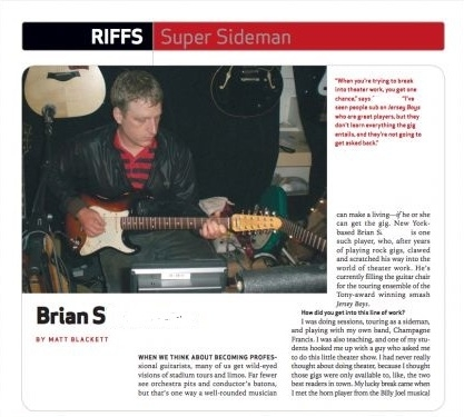 An article in Guitar Player magazine