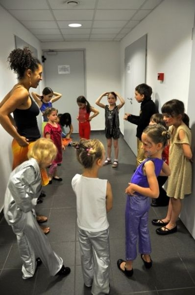 Backstage with Drama Works kindergarden group