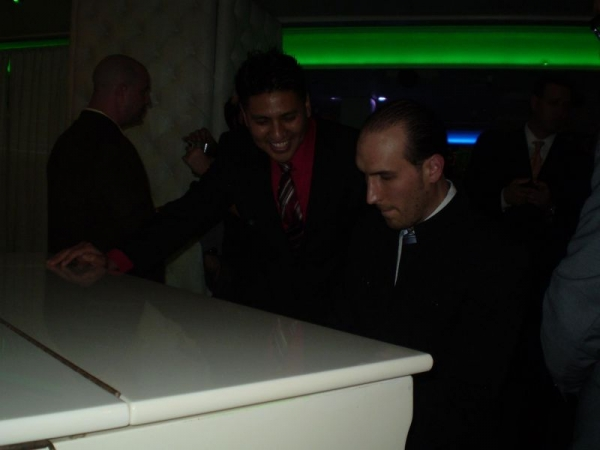 Hijacking a white piano at an event with songwriter/producer Tony Matt, Beverly Hills
