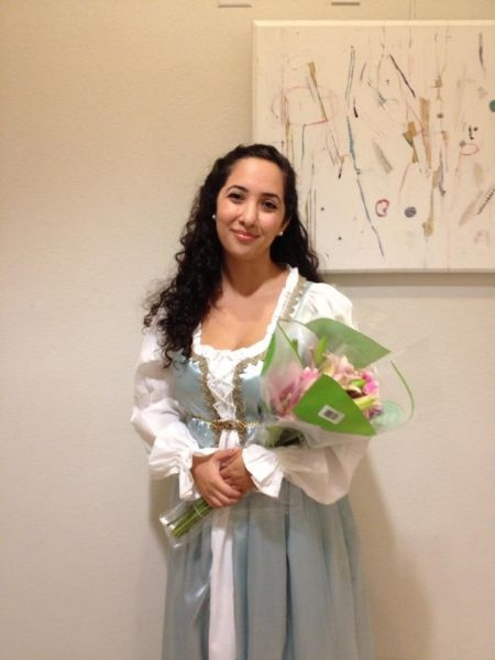 After a performance of The Grand Duke, as Lisa