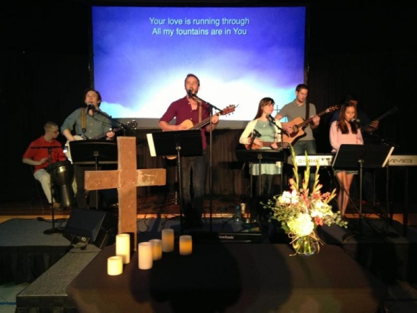 Leading worship at Living Life Church in Mckinney