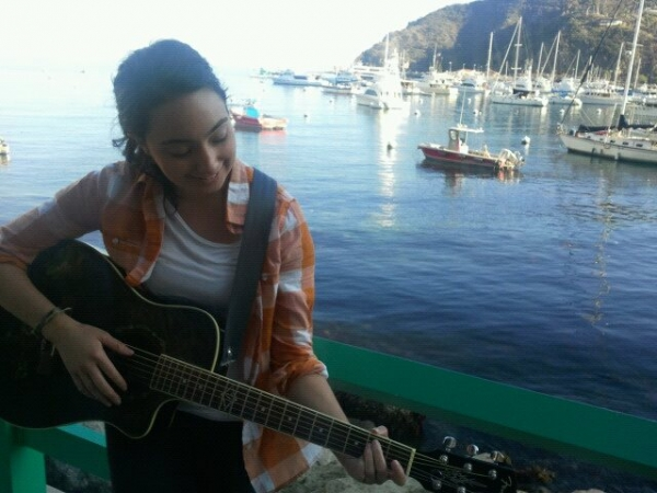 Borrowed a new friend's guitar on Catalina Island.