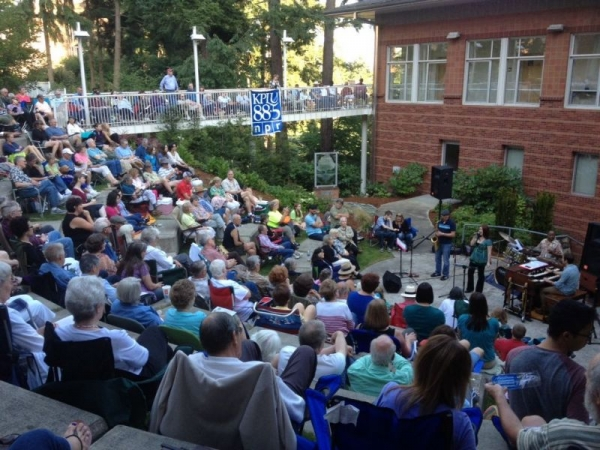 The Kareem Kandi Band performing at KPLU's Jazz Under The Stars. July 2012