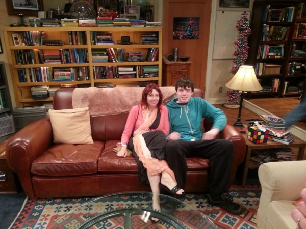 On the Big bang Theory couch with my son Oliver
