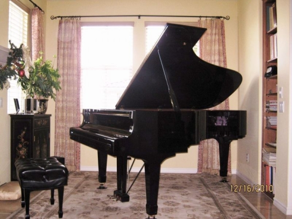 Mario's piano studio at Anaverde Hills. Palmdale California.