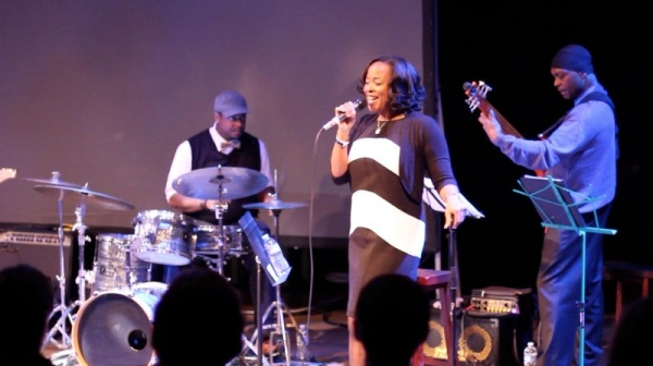 Jazz legend Anthony Cox (bass) and local legend Kevin Washington (drums) performing at Michele's last CD release show.