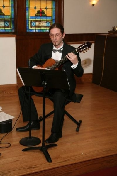 performing at St. Clement's Church for a wedding ceremony 2004