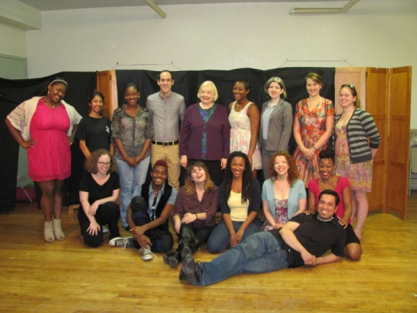 The company I co-found, Broad Views on Broadway, before their first production of the musical I wrote SUBLIMINAL.