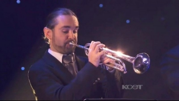 On KCET with the Elliot Duetsch Big Band.