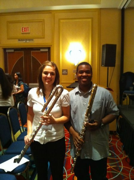 Bass Flutes at the 2010 NFA Convention - Collegiate Flute Choir Concert