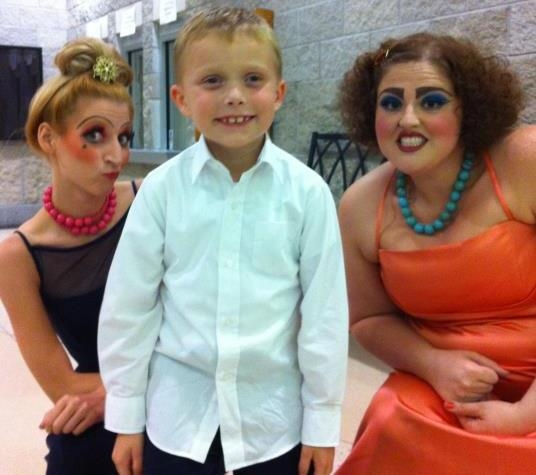 with a young audience member after a performance of Cinderella, I was an ugly stepsister ;)