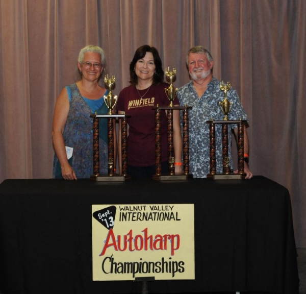 Second place at the Walnut Valley International Autoharp Championship, 2013