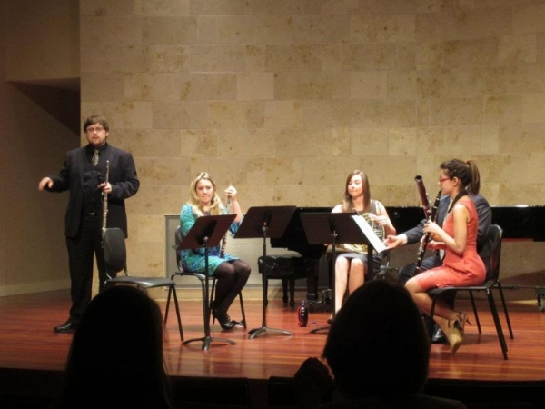Quintet Performance of Opus No. Zoo by Berio.  Spring 2012.