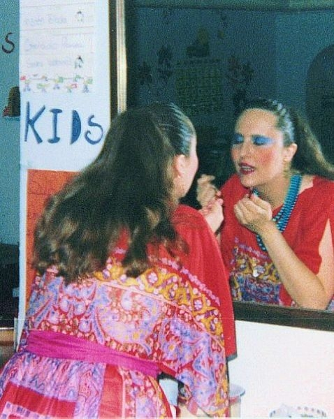 1987, makeup for Arthur Benjamin's one act opera Prima Donna