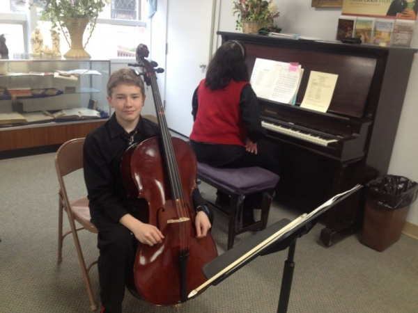 Cello solo with piano accompaniment