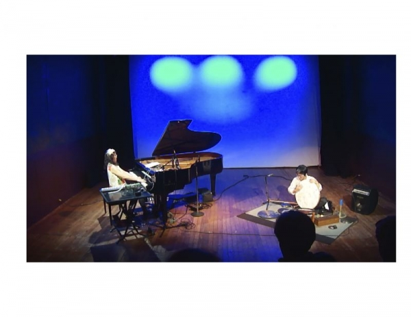 my duo project with satoshi takeishi on percussions live@ Flea theater NYC