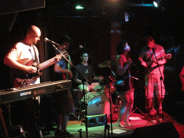 Performing at the Precinct in Somerville, MA sometime in 2011