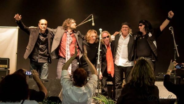 "On Stage at the 2014 Battle of Tribute Bands Palm Beach Fair. Keyboard player for ""Time with Tom"".. Runner ups on this one"